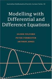 Cover of: Modelling with differential and difference equations