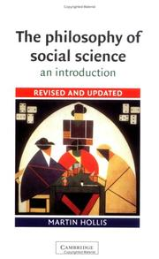Cover of: The philosophy of social science | Martin Hollis