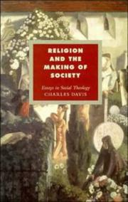 Cover of: Religion and the making of society