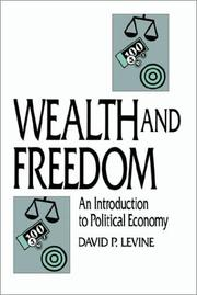 Cover of: Wealth and freedom