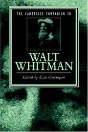 Cover of: The Cambridge companion to Walt Whitman