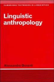 Linguistic Anthropology by Alessandro Duranti