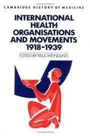 Cover of: International health organisations and movements, 1918-1939 |