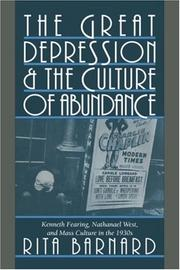 Cover of: The Great Depression and the culture of abundance