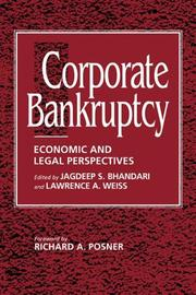 Cover of: Corporate bankruptcy
