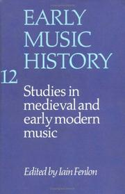 Cover of: Early Music History | Iain Fenlon