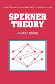 Cover of: Sperner theory