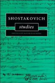 Cover of: Shostakovich studies |