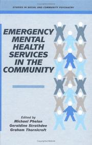 Cover of: Emergency Mental Health Services in the Community