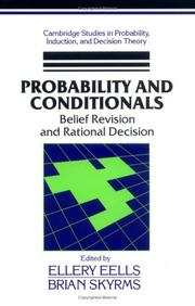 Cover of: Probability and conditionals