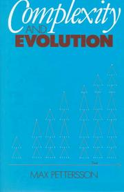 Cover of: Complexity and evolution