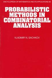 Cover of: Probabilistic methods in combinatorial analysis