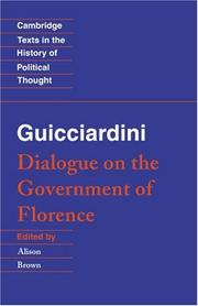 Cover of: Dialogue on the government of Florence