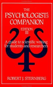 Cover of: The psychologist's companion
