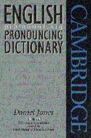 Cover of: English pronouncing dictionary by Daniel Jones
