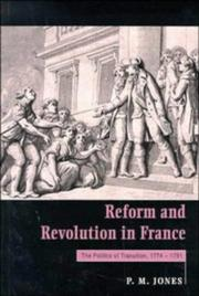 Cover of: Reform and revolution in France