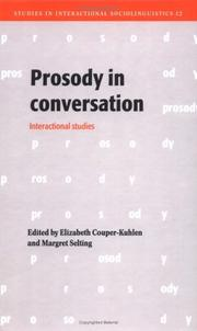 Cover of: Prosody in Conversation |