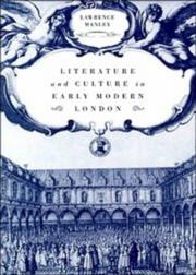 Cover of: Literature and culture in early modern London | Lawrence Manley