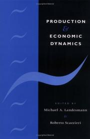 Cover of: Production and economic dynamics