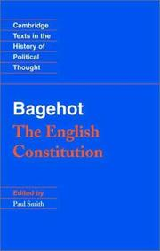 Cover of: Bagehot | Walter Bagehot