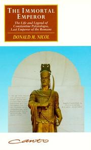 Cover of: The Immortal Emperor | Donald MacGillivray Nicol