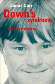 Cover of: Down's syndrome