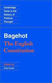 Cover of: The English Constitution (Cambridge Texts in the History of Political Thought)