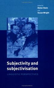 Cover of: Subjectivity and Subjectivisation |