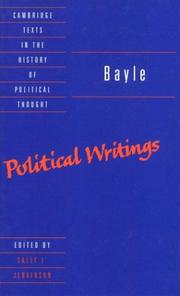 Cover of: Bayle--political writings