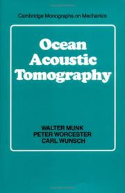Cover of: Ocean acoustic tomography