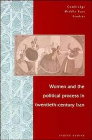 Cover of: Women and the political process in twentieth-century Iran | Parvin Paidar