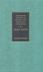 Cover of: Jean Rhys