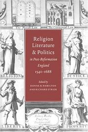 Cover of: Religion, literature, and politics in post-Reformation England, 1540-1688