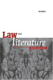 Cover of: Law and literature