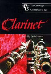 Cover of: The Cambridge companion to the clarinet