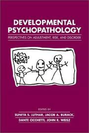 Cover of: Developmental psychopathology |