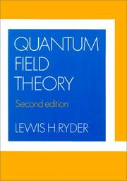 Cover of: Quantum field theory