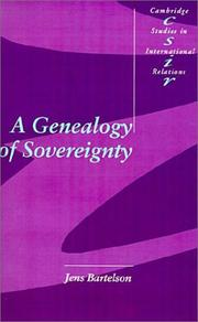 Cover of: A genealogy of sovereignty