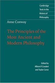 Cover of: Principles of the most ancient and modern philosophy
