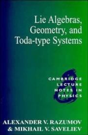 Cover of: Lie algebras, geometry and Toda-type systems