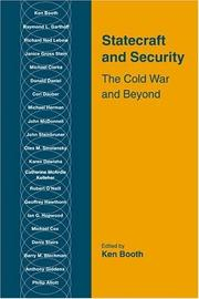 Cover of: Statecraft and security | edited by Ken Booth.