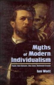 Cover of: Myths of modern individualism