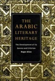 Cover of: The Arabic literary heritage