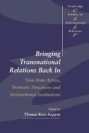 Cover of: Bringing Transnational Relations Back In | Thomas Risse-Kappen