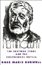 Cover of: Hemingway | Rose Marie Burwell