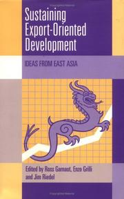 Cover of: Sustaining export-oriented development