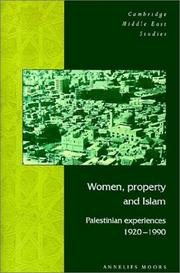 Women, Property and Islam by Annelies Moors