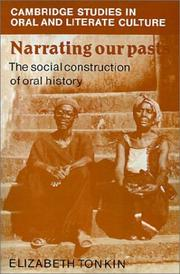 Cover of: Narrating Our Pasts | Elizabeth Tonkin