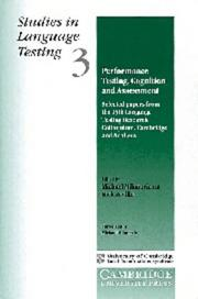 Cover of: Performance testing, cognition, and assessment