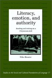 Cover of: Literacy, emotion, and authority | Niko Besnier